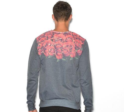 zwart 44 Hype Heren £ achterkant voorkant sweater nieuw Rozen 99 ronde Xl hals Rrp w0wZHx