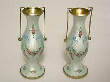 Pair of European Silver Enamel Vases C1920