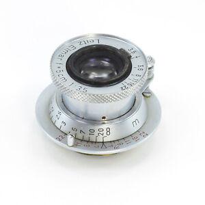 Details about Mint Vintage Leica Leitz Elmar f=5cm 1:3 5 camera Lens clean  & clear lens 1 cap
