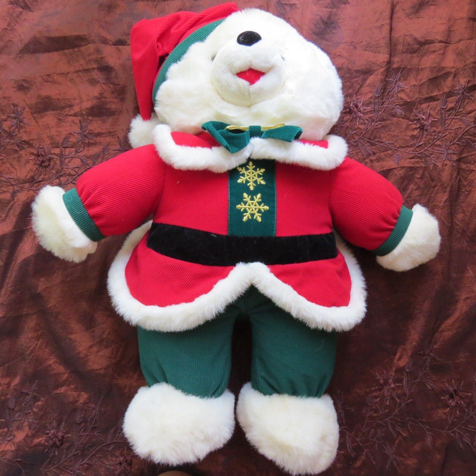 ADORABLE      1995 Snowflake Teddy Bears rot cape & hat (   4) 9e1ab6