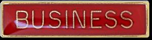 Business School Subject Bar Pin Badge in Red Enamel