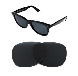 NEW-POLARIZED-REPLACEMENT-BLACK-LENS-FIT-RAY-BAN-WAYFARER-2132-58mm-SUNGLASSES