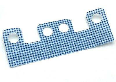 Lego New Minifigure Skirt Cloth with 4 Holes Length 10mm White Blue Gingham