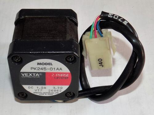 VEXTA MODEL PK245-01AA 2-PHASE 1.8 DEG PER STEP STEPPER MOTOR STEPPING