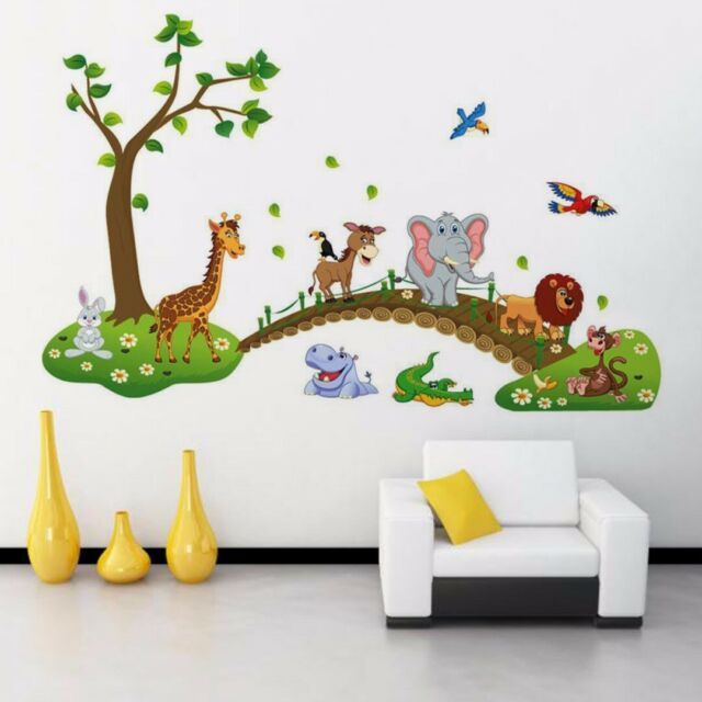 Cute Cartoon Animals Removable Wall Decal Sticker Baby Nursery Kid