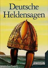 *- Deutsche HELDENSAGEN - Hrsg. Edmund MUDRAK  gebunden  (2001)