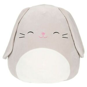 Squishmallow Kellytoy 12 inches The Grey Bunny - Blake, Super Soft Plush Toy