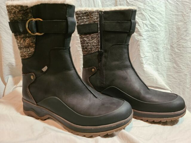 Black All Sizes Merrell Icepack Guide Mid Buckle Wp Womens Boots