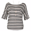 Apricot-Black-Stripy-Batwing-Necklace-Top-Size-Large-UK-14-LF077-NN-01 thumbnail 4
