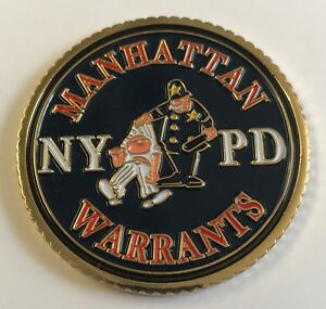 Details about NYPD NYC Police Dept Manhattan Warrants Fugitive Enforcement  Division Coin