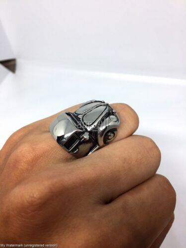VOLKSWAGEN BEETLE Käfer Bug VW Stainless Ring Volk Size 7-12 Handmade Classic