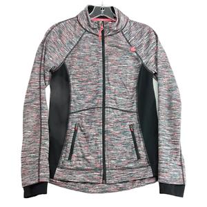 Tangerine Women's Lightweight Jacket Small Full Zip Mock Neck Gray Pink Black
