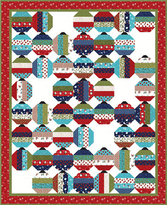 Quilt Pattern BOX OF ORNAMENTS Moda COACH HOUSE Jelly Roll Friendly SNOW MUCH FU