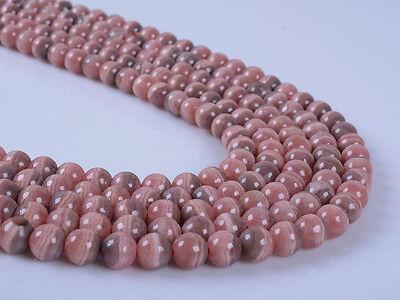 """6mm247 6mm Natural Argentina rhodochrosite round gemstone loose beads 16"""""""