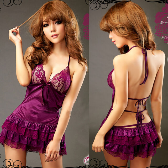Sexy Women Lingerie Babydoll Underwear Sleepwear Nightwear Dress G-String