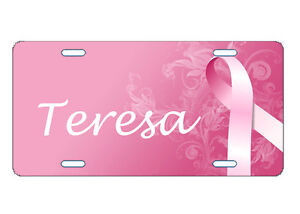 PERSONALIZED-LICENSE-PLATE-CUSTOM-CAR-TAG-BREAST-CANCER-SUPPORT