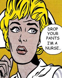 Roy lichtenstein style drop your pants im a nurse pop art canvas image is loading roy lichtenstein style drop your pants i 039 voltagebd Images