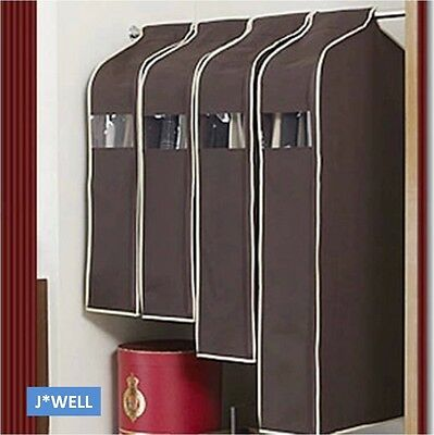 Wardrobe Hanging Suit Overcoat Dust Cover Clothing Garment Storage Bag Organizer
