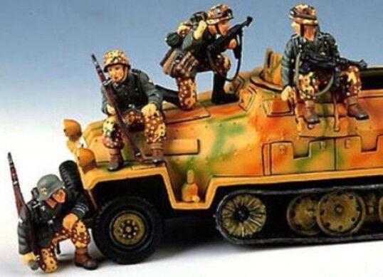 KING OCH LAND TYSKLAND WWWMAN ARMY WS009 sittandes och crouphing PANZER GRÖNADERS MIB