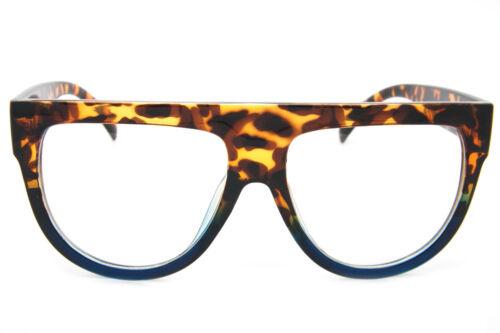 Flat Top Shadow Eyeglasses Oversized Thick Frame Retro Vintage Fashion Shades