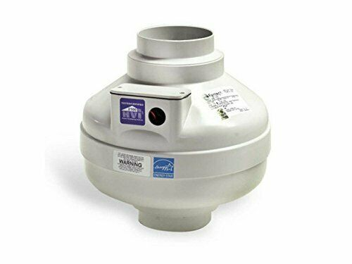 In-Line Centrifugal Duct Ventilation Fan for Multiple Point Exhaust 263 CFM 6