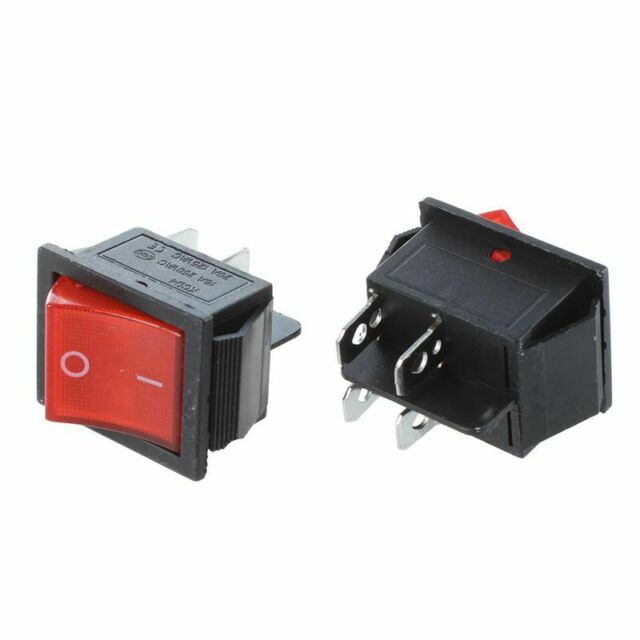 2 Pcs KCD4 DPST ON-OFF 4 Pin Rocker Boat Switch 15A/20A AC 250V/125V P4Y3