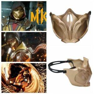 Mortal Kombat11 Scorpion Mask Cosplay Half Face Mask Resin Costume