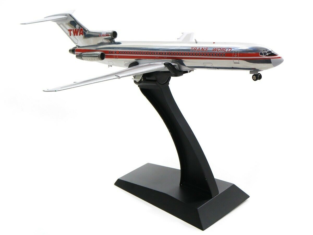 INFLIGHT 200 IF722TW1018P 1 200 TWA BOEING 727-200 N64339 POLISHED WITH STAND