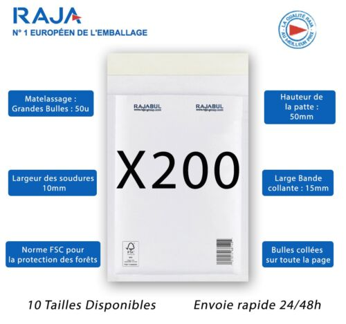 Set Of/'envelopes bubble RAJA Size F 6 Format Inside 220x340mm