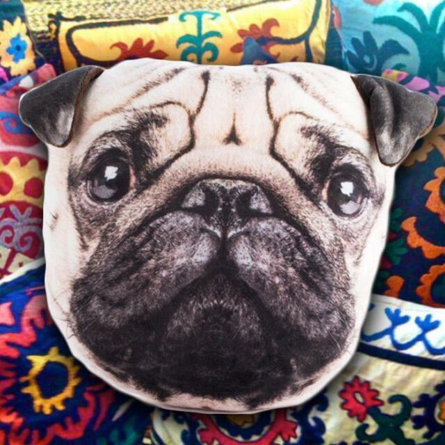 Cute & Cuddly Plush Pug Pillow