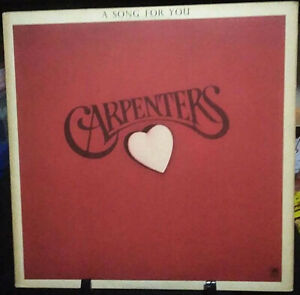 CARPENTERS A Song For You  Album Released 1972 Vinyl Collection USA