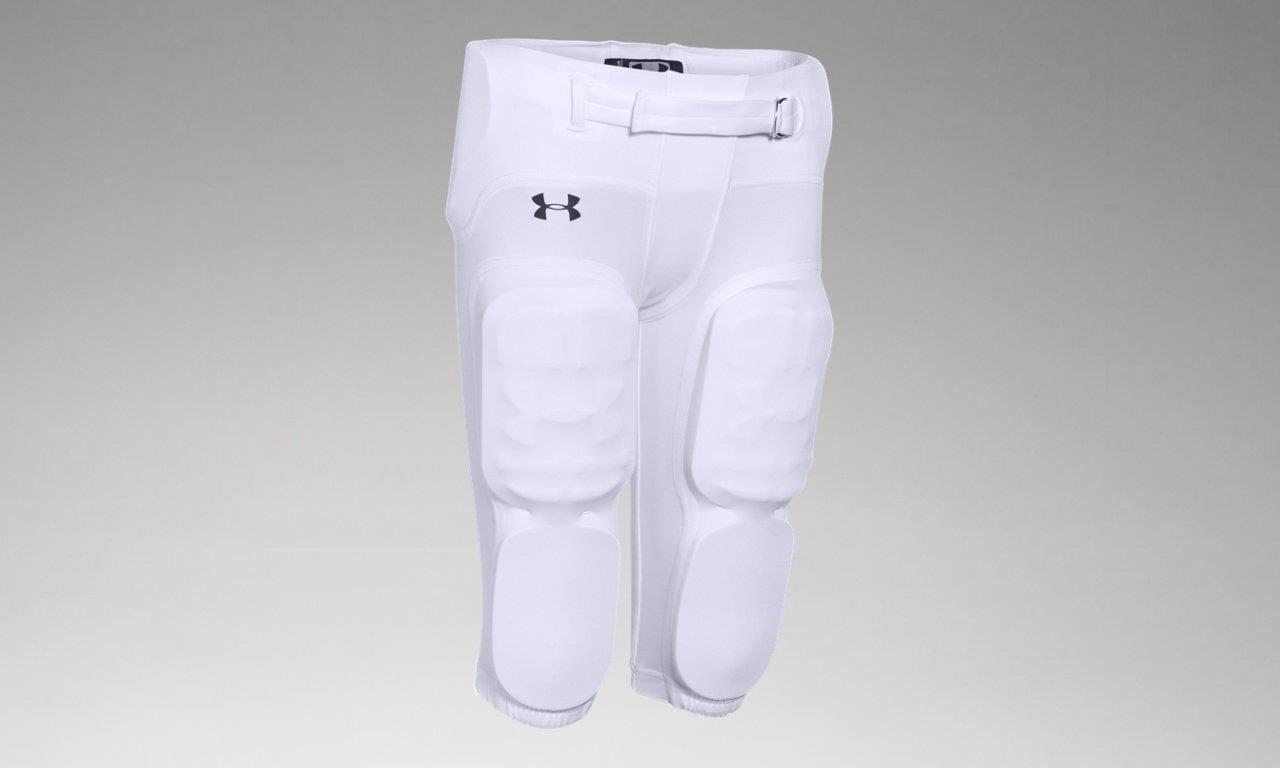 Under Armour Youth Boys Integrated Football Pants 1258515-100 bianca Youth Small