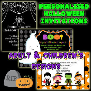 Image Is Loading Personalised HALLOWEEN PARTY Invitations X 10 Halloween Birthday