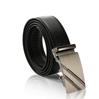 Men Business Automatic Buckle Genuine Leather Waist Strap Belt Waistband Luxury