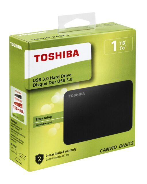 "Toshiba Canvio Basics 1TB, 2.5"" Disco Rigido Esterno Portatile (HDTB410EK3AA)"