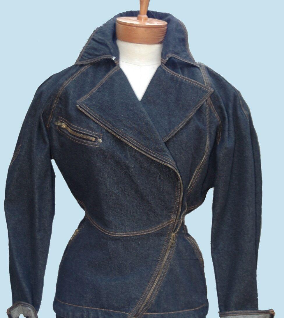 Iconic Azzedine Alaia vintage denim jacket and sk… - image 2