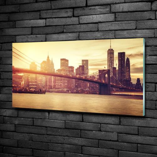 Glas-Bild Wandbilder Druck auf Glas 100x50 Sehenswürdigkeiten Manhattan New York