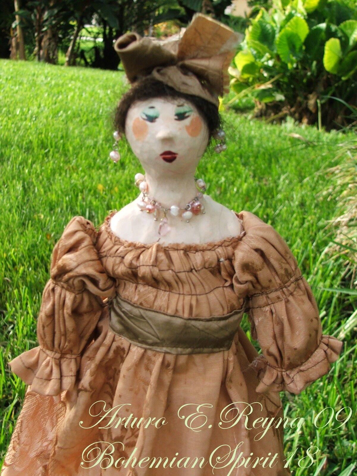 Victorian Style Maiden Moire Dress Hecrafted  bambola  al prezzo più basso