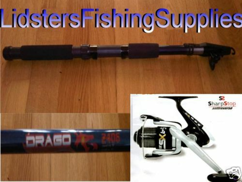 2 x 10FT Fishing Telescopic Travel Rods Reels + Line DR