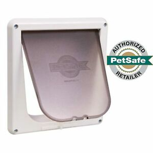 Image Is Loading PetSafe 4 Way Locking Indoor Cat Door White
