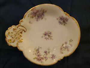 Limoges-GDA-France-Ch-Field-Haviland-Violets-Vanity-or-Serving-Dish-8-034-X-6-5-034