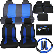 BMW 3,5,6,7,8 Series E46 E90 E36 Universal Car Seat Cover Set 15 Piece Logo Blue