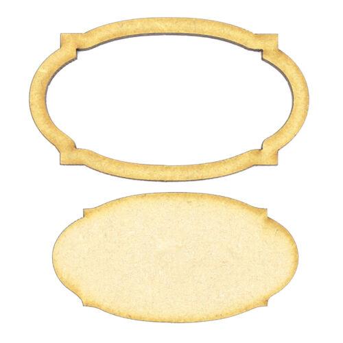 Wooden 3mm MDF Laser Cut Craft Blank Scrapbook Topper Frame and Panel 33