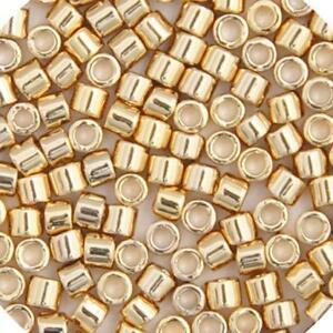 Miyuki Delica Seed Beads 5.2g tube 15//0 RD Crystal AB