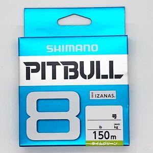 SHIMANO-PITBULL-X8-Braided-Line-PE-150m-Lime-Green-Select-LB-Free-Shipping