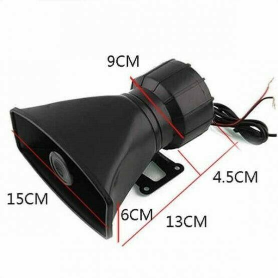 Dc12v 3 Sound Tone Car Speakers Or Motorcycle Warning Siren Alarm Loudspeaker With Mic
