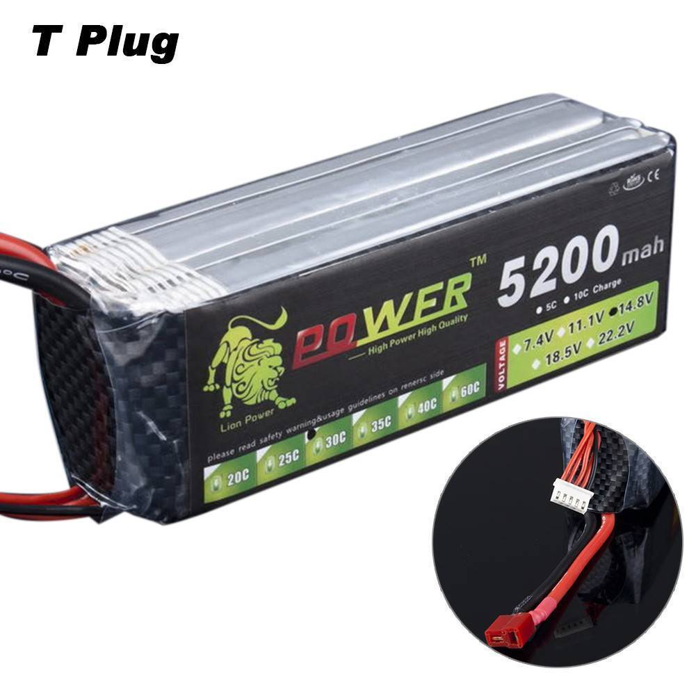 22.2V 5200mAh 30C 6S Polymer Lipo Battery With T Plug For RC Aircraft Helicopter