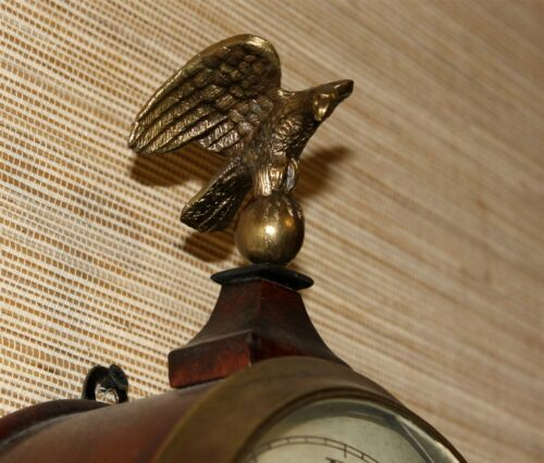 Banjo Clock Eagle Finial Cast Metal Eagle on Globe
