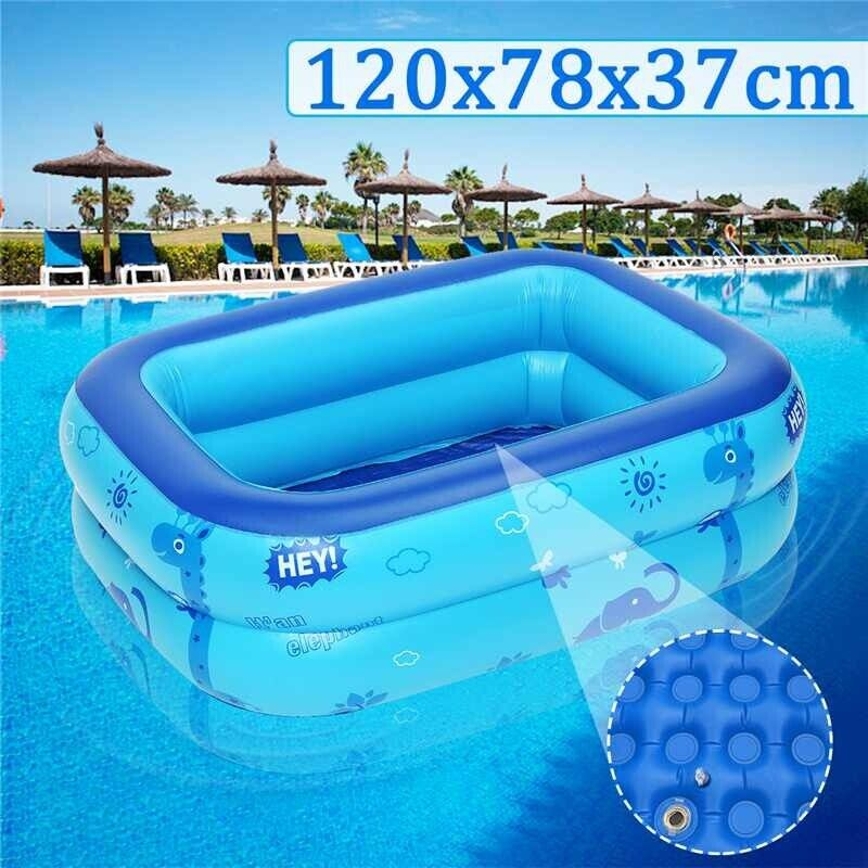 120x78x37cm kids Home Use Paddling Pool Heat Preservation Inflatable Square pool