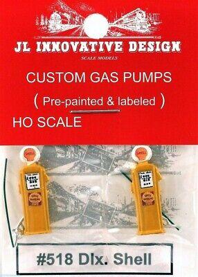 938 JL Innovative HO//HOn3 Custom Gravity Feed Gas Pump 2//pkg.Shell #